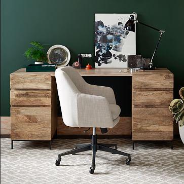 industrial modular desk set 2 box files west elm. Black Bedroom Furniture Sets. Home Design Ideas