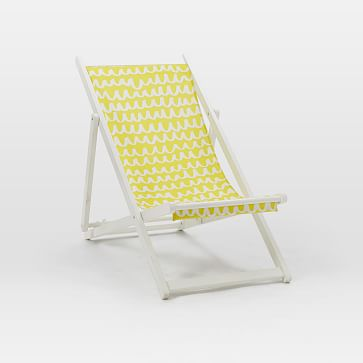 Sling chair white yellow west elm for West elm yellow chair