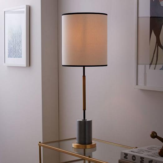 west elm rejuvenation cylinder table lamp tall west elm. Black Bedroom Furniture Sets. Home Design Ideas