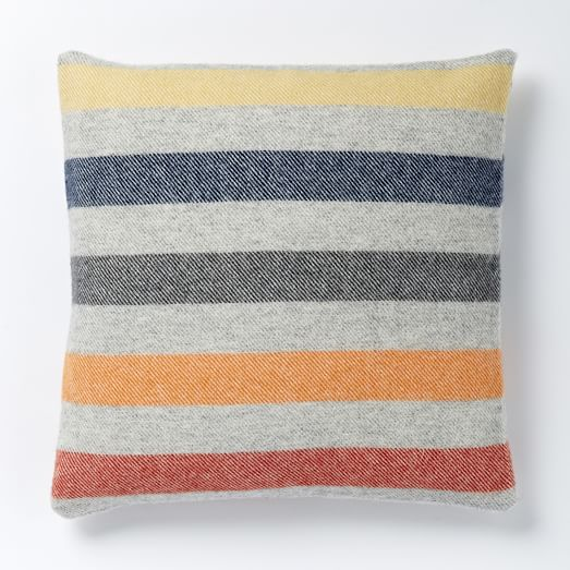 Faribault Candy Stripe Wool Pillow Cover West Elm
