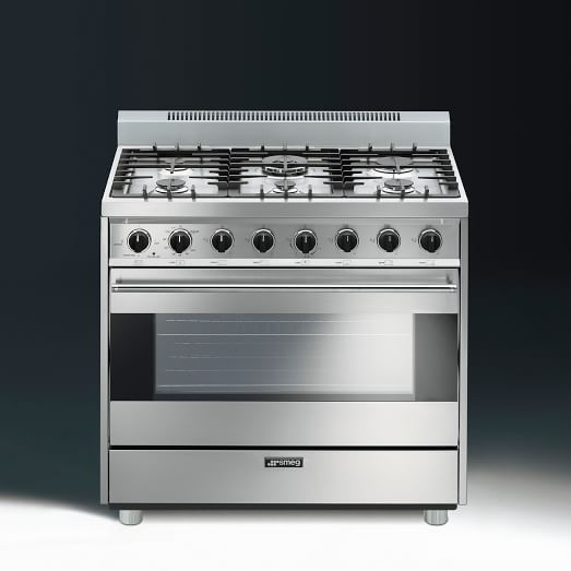 Smeg cooktops west elm for Luxury stove brands