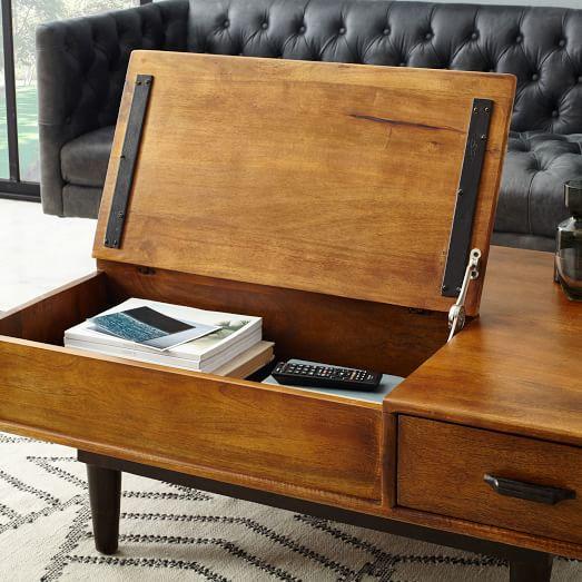 Lars Mid-Century Storage Coffee Table