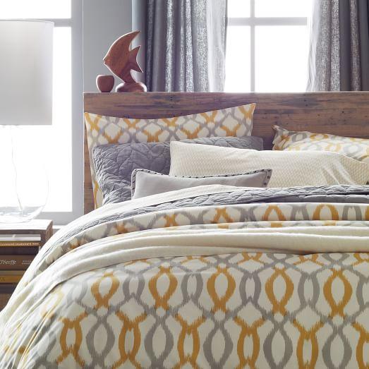 organic ikat links duvet cover shams west elm. Black Bedroom Furniture Sets. Home Design Ideas