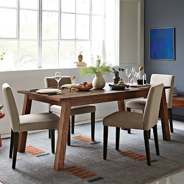 solid wood table west elm