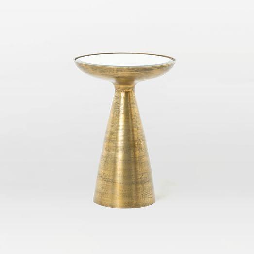 gilded brass side table west elm. Black Bedroom Furniture Sets. Home Design Ideas