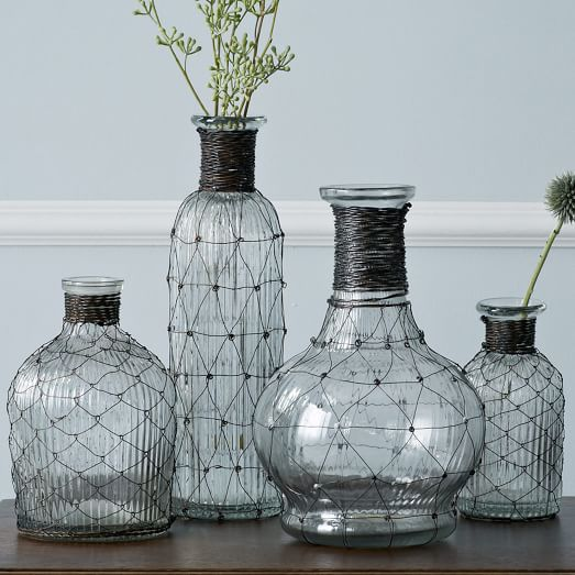 Wire Bottle Bud Vases West Elm