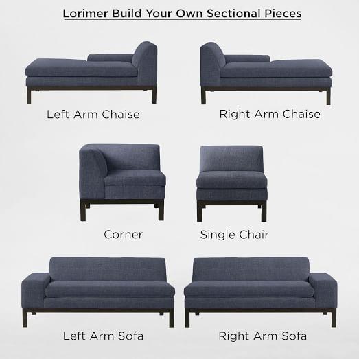 build your own lorimer sectional pieces west elm. Black Bedroom Furniture Sets. Home Design Ideas