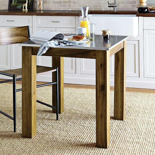 Rustic Square Kitchen Tables - West elm square dining table