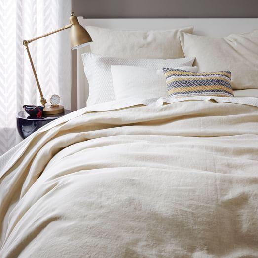 Belgian Flax Linen Duvet Cover Shams Natural Flax