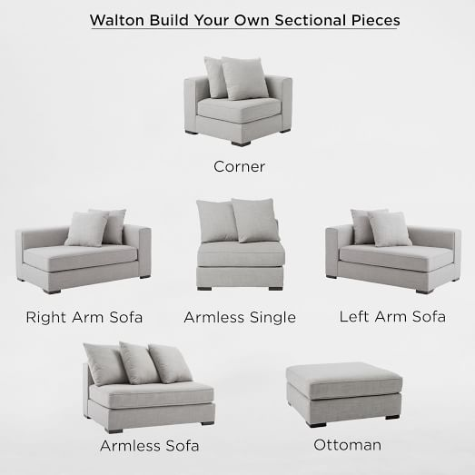 build your own walton sectional pieces west elm. Black Bedroom Furniture Sets. Home Design Ideas