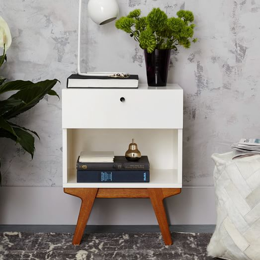 Modern nightstand west elm for Modern nightstands for sale