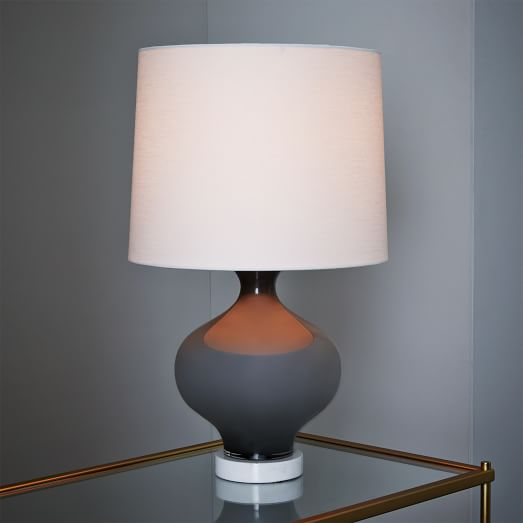 west elm rejuvenation colored glass table lamp gray west elm. Black Bedroom Furniture Sets. Home Design Ideas