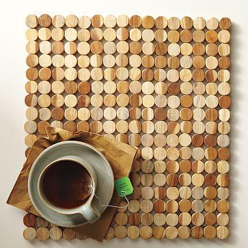 Wood Tile Placemat Set West Elm