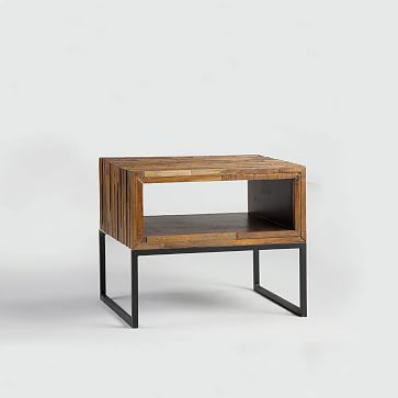 Mixed Wood Side Table West Elm