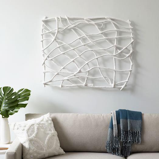 Papier mache wall art branches west elm for Papier mache art for sale