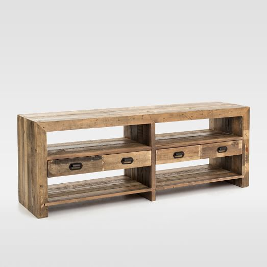 Emmerson Reclaimed Wood 4 Drawer Media Stand West Elm