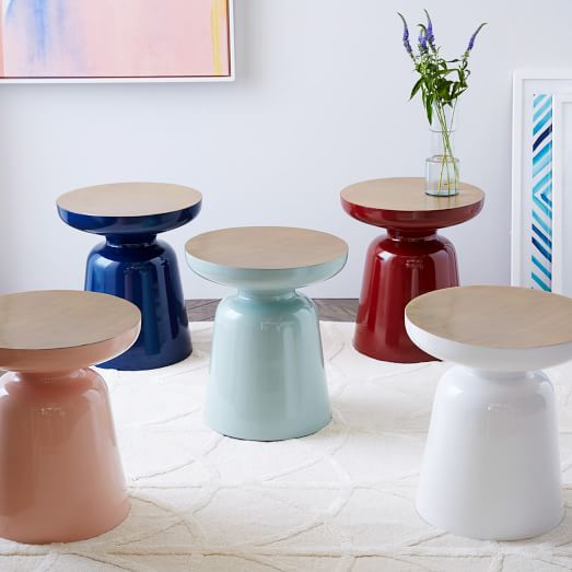 Martini Two Tone Side Table West Elm