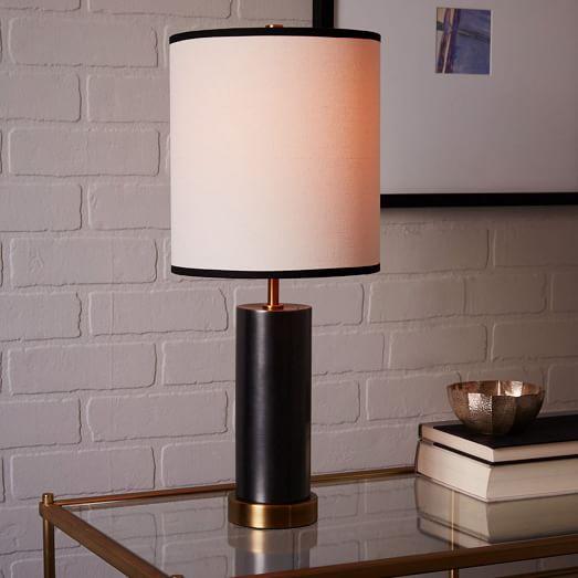 west elm rejuvenation cylinder table lamp small west elm. Black Bedroom Furniture Sets. Home Design Ideas
