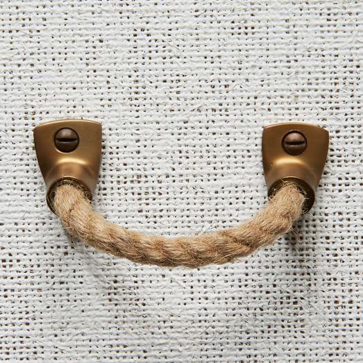 Rope + Metal Handle - Jute west elm