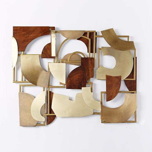Christopher Wynter Art Rug Ivory: Christopher Wynter Metal + Wood Wall Art