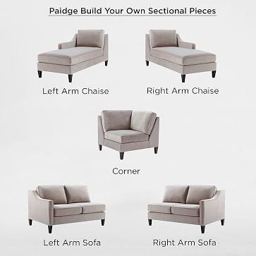build your own paidge sectional pieces west elm. Black Bedroom Furniture Sets. Home Design Ideas