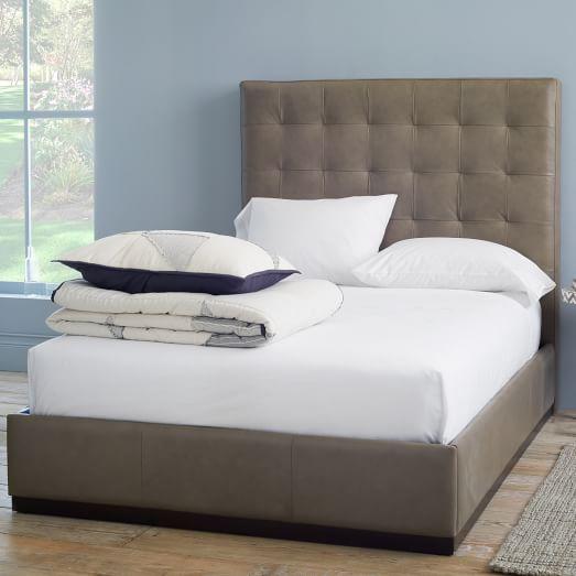 Leather Plinth Upholstered Bed Frame Elephant West Elm