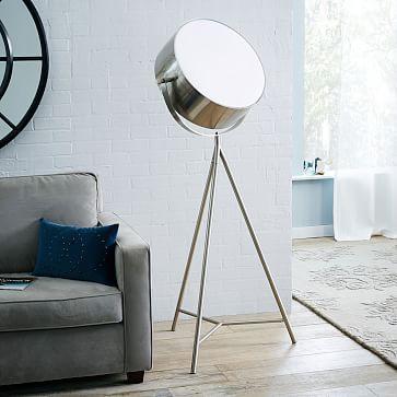 Spotlight Metal Tripod Floor Lamp West Elm