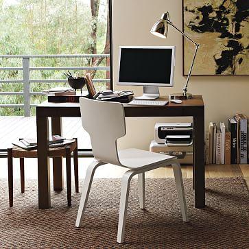 parsons desk chocolate west elm. Black Bedroom Furniture Sets. Home Design Ideas