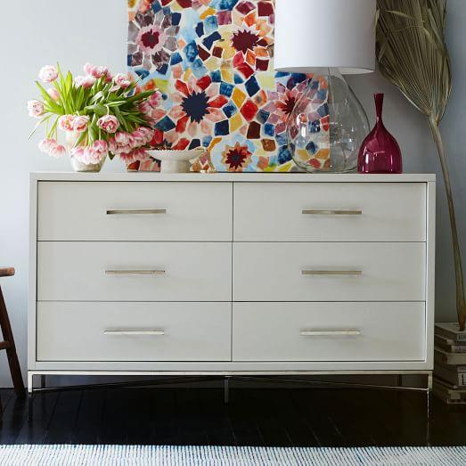 city storage 6 drawer dresser white west elm. Black Bedroom Furniture Sets. Home Design Ideas