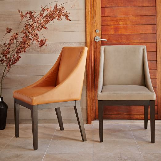 Curved Leather Chair West Elm