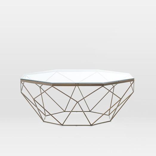 Round Glass Coffee Tables Canada: Geometric Coffee Table