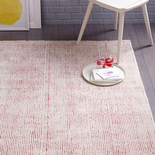 Parallels Wool Rug - Macaroon Pink