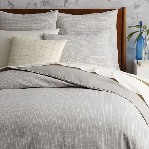 mid century organic crosshatch jacquard duvet cover. Black Bedroom Furniture Sets. Home Design Ideas