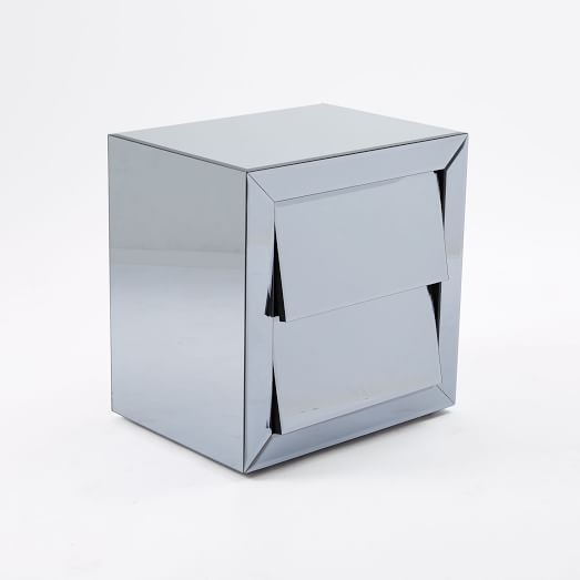 Modern mirrored nightstand west elm for Modern nightstands for sale