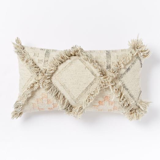 shag diamond pillow cover west elm. Black Bedroom Furniture Sets. Home Design Ideas