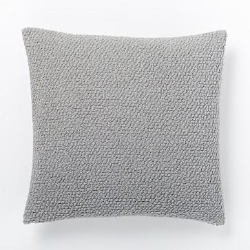 Cozy Boucle Pillow Cover Platinum West Elm