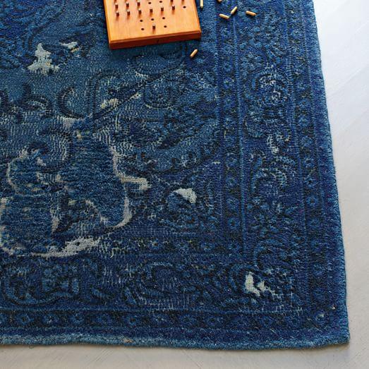 West Elm Blue And White Rug: Bursa Wool Rug