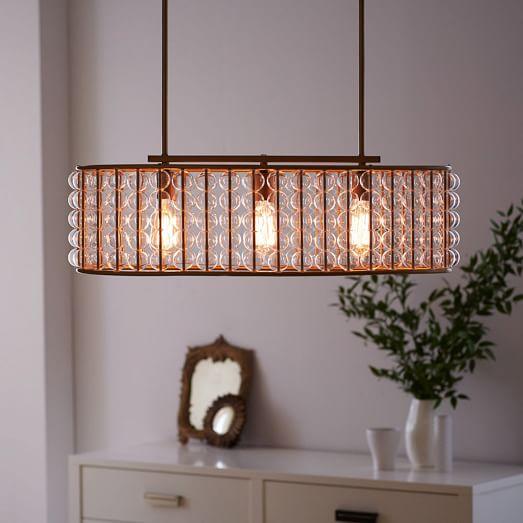 West Elm Lighting Sale: Marney Glass Chandelier - Oval