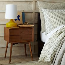 Hayworth Nightstand White Lacquer