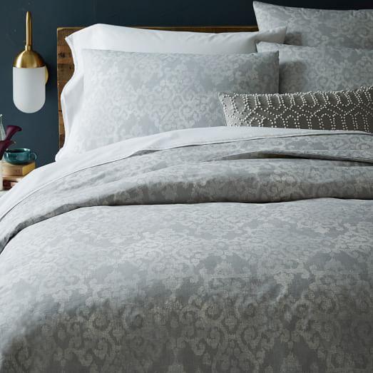 organic scroll arabesque duvet cover west elm. Black Bedroom Furniture Sets. Home Design Ideas