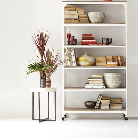 Metal furniture end table frames product details view metal - Whitewashed Wood Metal Shelves West Elm