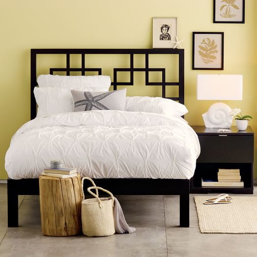 Classic Bed Frame Chocolate West Elm
