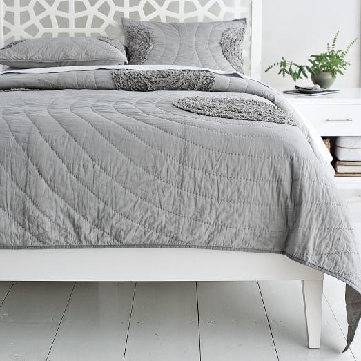 Narrow Leg Wood Bed Frame White West Elm