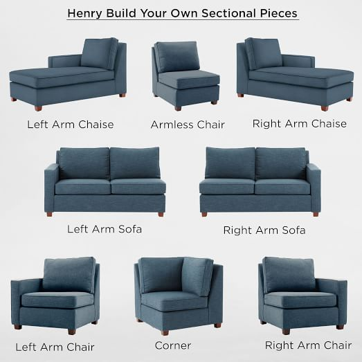 build your own henry sectional pieces west elm. Black Bedroom Furniture Sets. Home Design Ideas