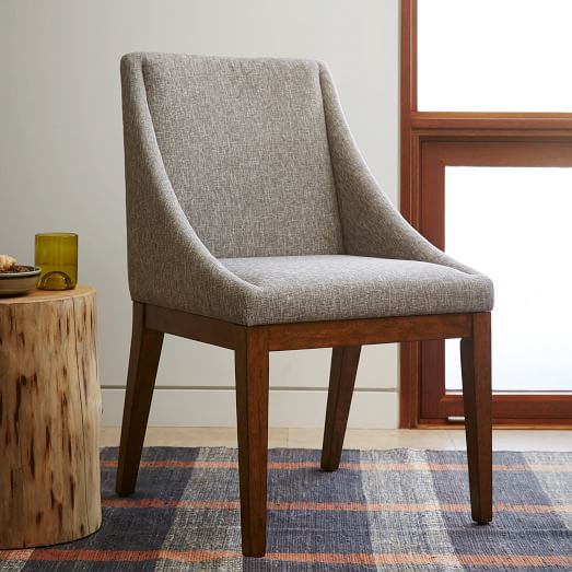 Curved Upholstered Chair