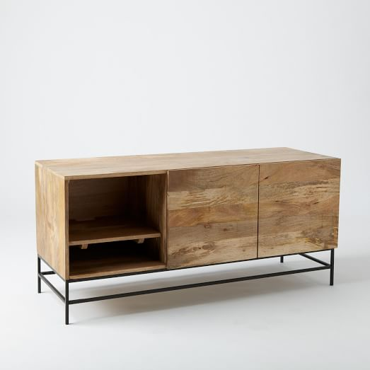 Industrial Storage Media Console Large West Elm