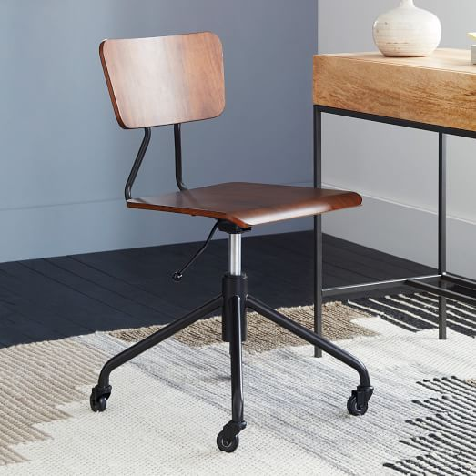 adjustable industrial office chair west elm. Black Bedroom Furniture Sets. Home Design Ideas