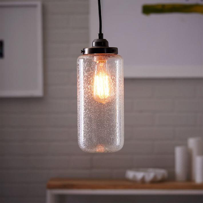 bubble glass jar pendant tall west elm bubble lighting fixtures