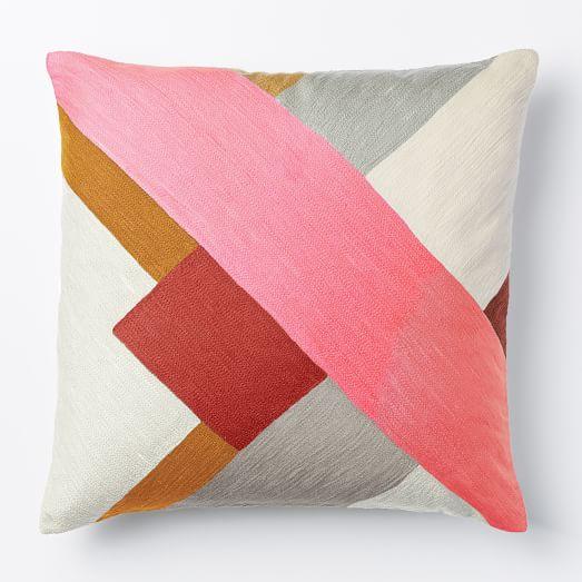Crewel Modern Blocks Pillow Cover - Shockwave west elm