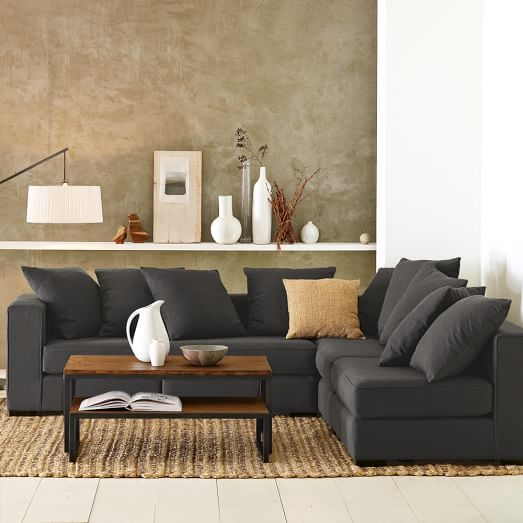 walton 3 piece sectional west elm. Black Bedroom Furniture Sets. Home Design Ideas